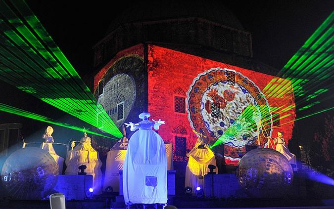 Церемония открытия культурной столицы Европы 2010, город Печ, Венгрия, 10 января 2010 года.