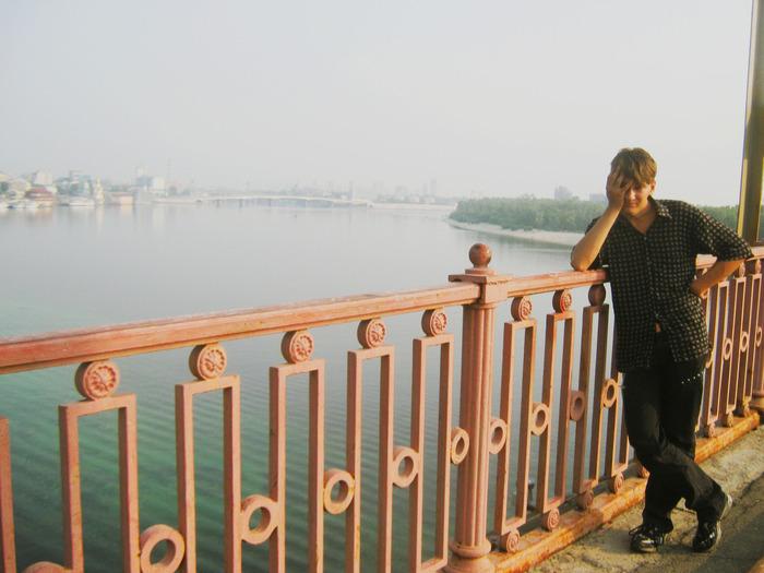 киев, пешеходный мост