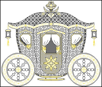 Схема вышивка карета
