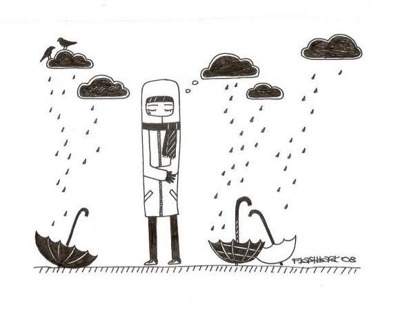 картинки для срисовки легкие грустные