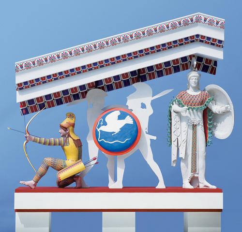 цветные статуи древних греков