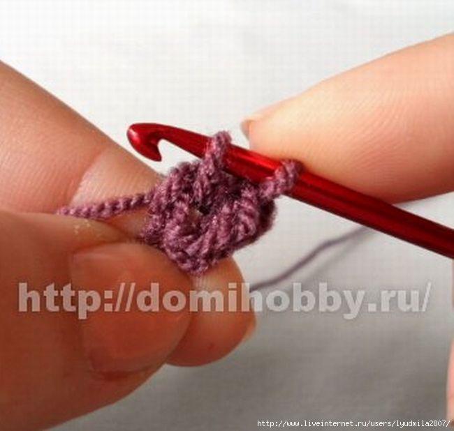 Для вязания шишечки наберите 4