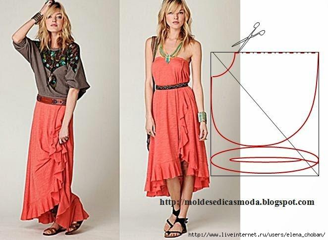 Красивые простые юбки сшить