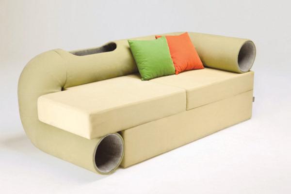 диван с тоннелем для кота (600x400, 38Kb)