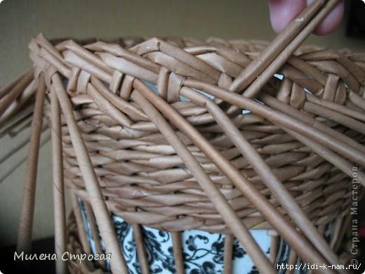 кашпо из газетных трубочек,  плетение из газет,  плетение из газетных трубочек