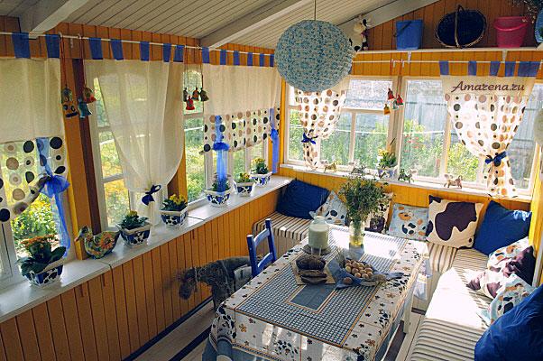 Интерьеры веранды на даче фото