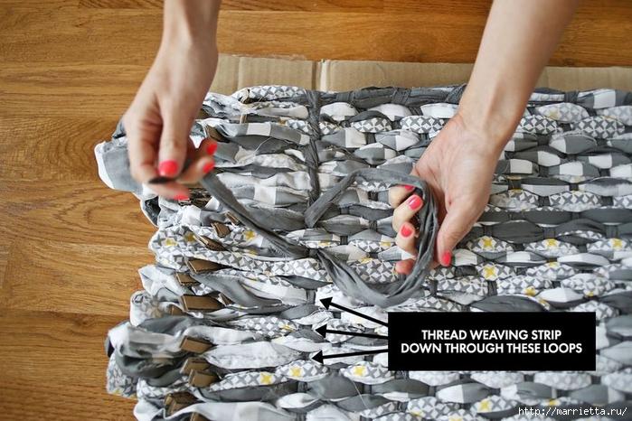 Тканый коврик из лоскутков своими руками (1) (700x466, 291Kb)
