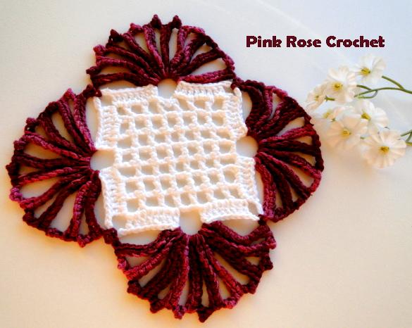 Centrinho Burgundy Crochet Coaster (585x466, 481Kb)