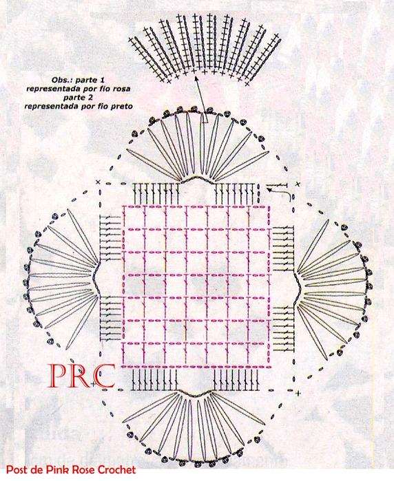 Centrinho Coaster Crochet Square Gráfico (572x700, 774Kb)