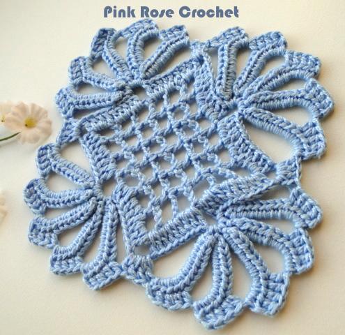 Centrinho de Croche Crochet Coaster (495x480, 521Kb)