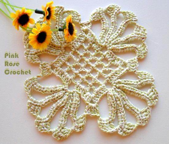 Centrinho Quadrado Crochet Coaster (550x470, 500Kb)