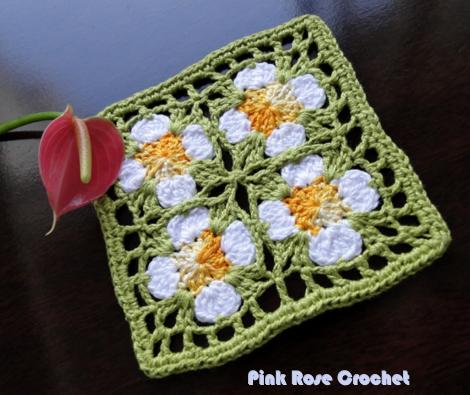 Quadrado de Croche Crochet Granny Square Motif (470x395, 413Kb)