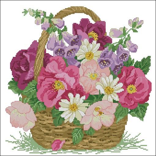 basket-of-blooms (510x510, 352Kb)