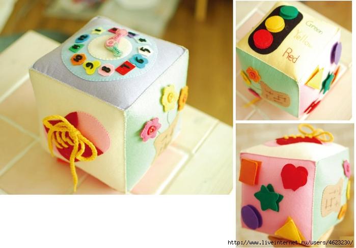 Кубик для новорожденных своими руками 55