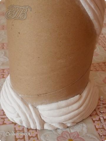 Напольные вазы из шпулек от линолеума (4) (360x480, 113Kb)