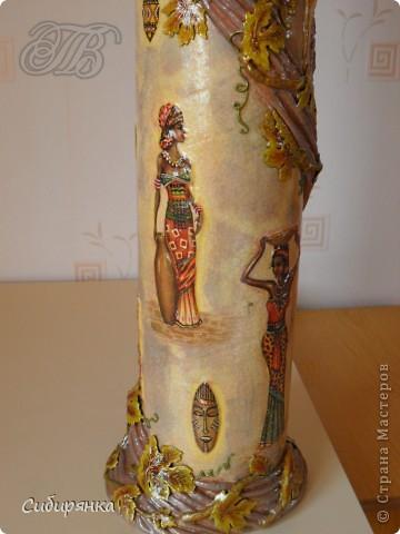 Напольные вазы из шпулек от линолеума (24) (360x480, 131Kb)