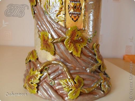 Напольные вазы из шпулек от линолеума (28) (520x390, 185Kb)
