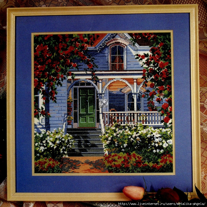 Red Rose Cottage (699x700, 572Kb)