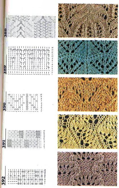 Простой ажурный узор для вязания спицами 80