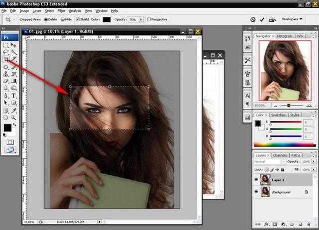 вырезание изображений: