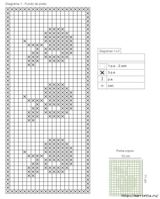 atar servilletas de ganchillo.  patrón con las manzanas (1) (523x649, 185Kb)