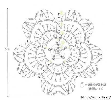 Вязаные крючком фрагменты для украшения тапочек (4) (459x408, 94Kb)