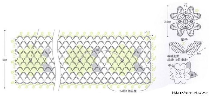 Вязаные крючком фрагменты для украшения тапочек (8) (700x321, 147Kb)