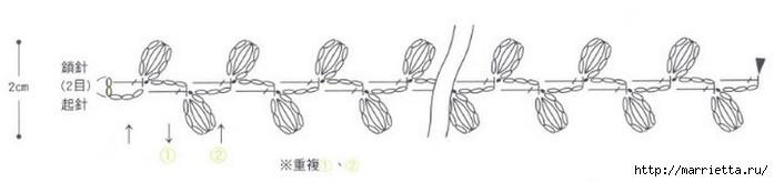 Вязаные крючком фрагменты для украшения тапочек (16) (700x164, 47Kb)