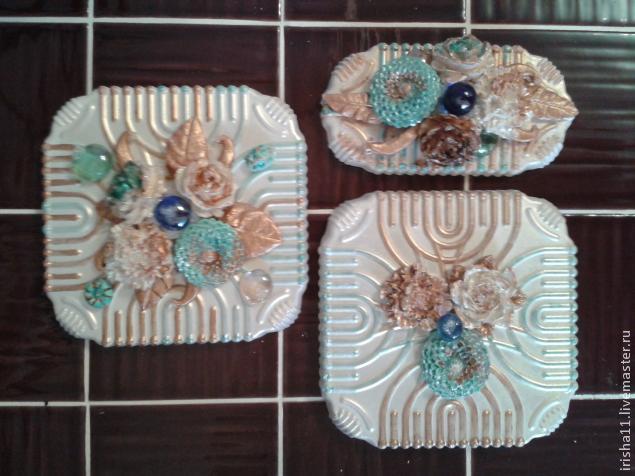 Baldosas de yeso chimenea ajuste floral hecho en casa (11) (635x476, 221Kb)