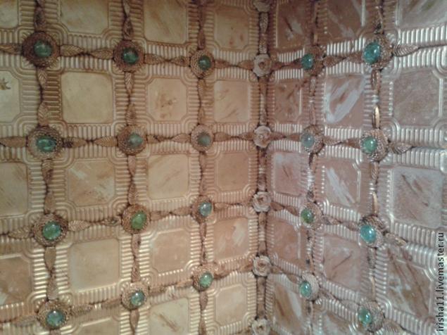 Baldosas de yeso chimenea ajuste floral hecho en casa (13) (635x476, 224Kb)