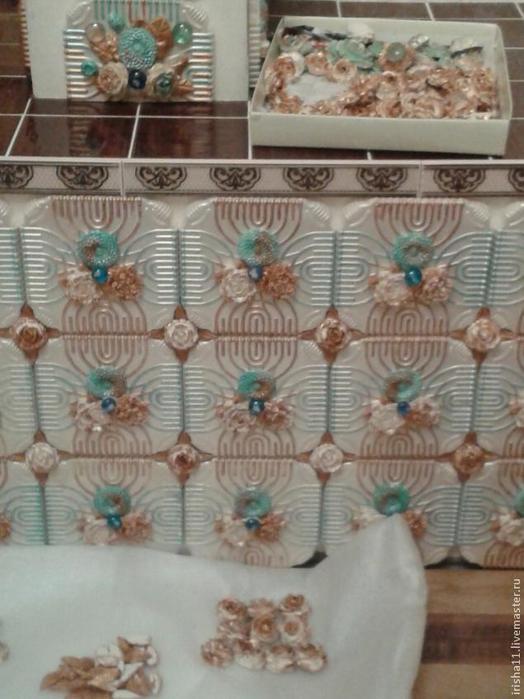 Baldosas de yeso chimenea ajuste floral hecho en casa (19) (524x700, 319Kb)