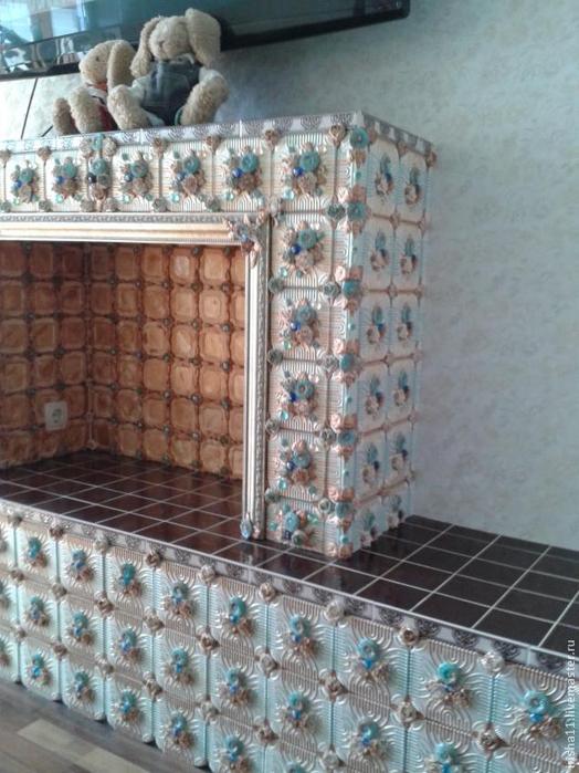 Baldosas de yeso chimenea ajuste floral hecho en casa (22) (524x700, 370Kb)