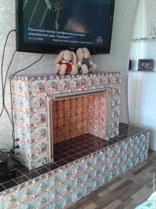 Baldosas de yeso chimenea ajuste floral hecho en casa (24) (524x700, 379Kb)