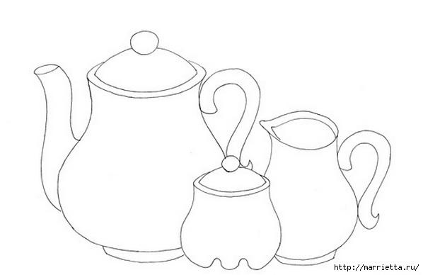 Скатерть с вышивкой и аппликацией чайного сервиза (3) (598x388, 51Kb)