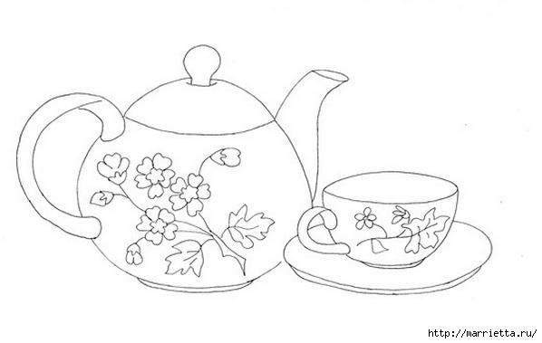 Скатерть с вышивкой и аппликацией чайного сервиза (5) (598x379, 66Kb)