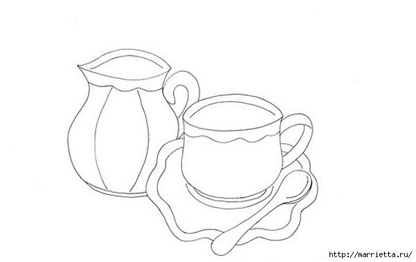 Скатерть с вышивкой и аппликацией чайного сервиза (7) (601x379, 49Kb)