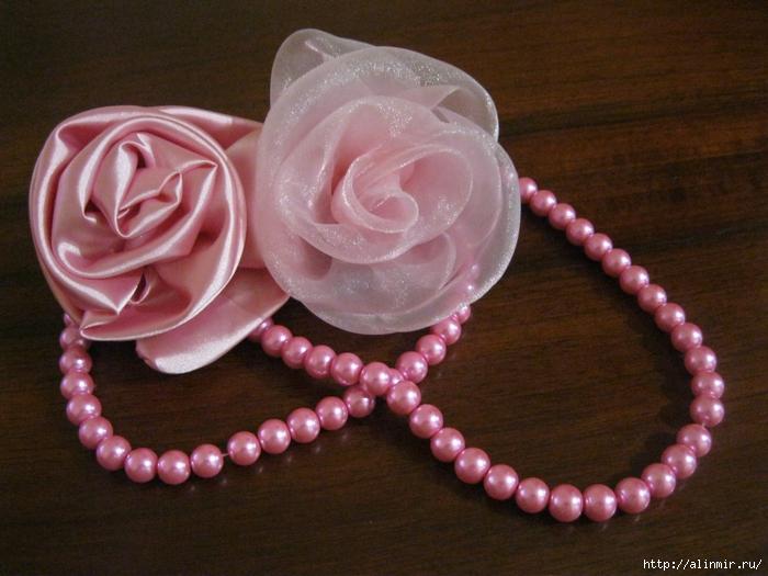 Как сделать розу для платья 387