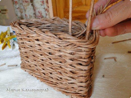 Красивая загибка для плетенок из газетных трубочек. Мастер-класс (22) (520x390, 182Kb)