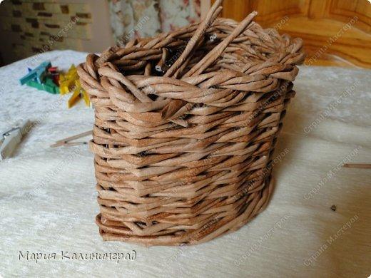 Красивая загибка для плетенок из газетных трубочек. Мастер-класс (29) (520x390, 182Kb)