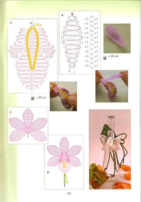 Бисероплетение орхидея схема