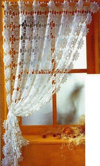 Вязаные крючком шторы