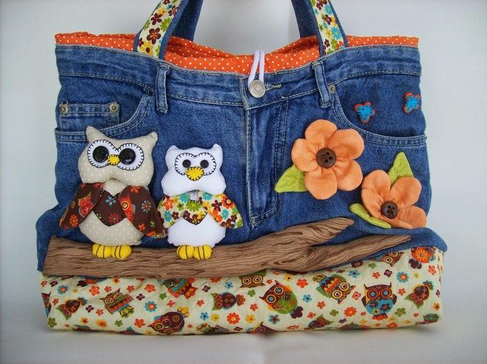 Сумочка для девочки из старых джинсов своими руками