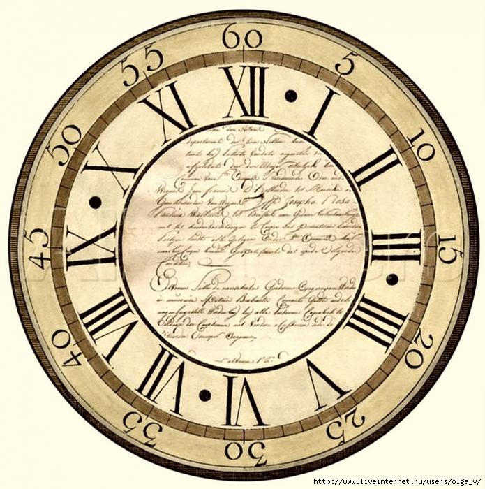 1000 images about fondos de reloj vintage o shabby chic - Relojes grandes de pared ...