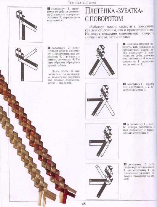Зубатка схема плетения