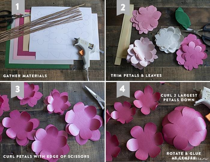 КАМЕЛИЯ. Цветы из бумаги (1) (700x540, 263Kb)