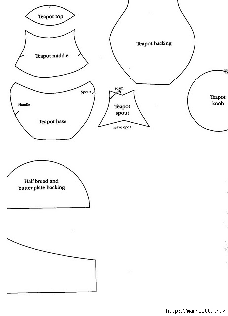Пэчворк. Лоскутное панно для кухни (5) (463x640, 63Kb)