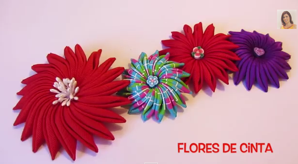 Цветы из репсовой ленты мастер класс