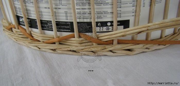 Мастер-класс плетения корзинки и кручения трубочек из газет (11) (700x334, 180Kb)