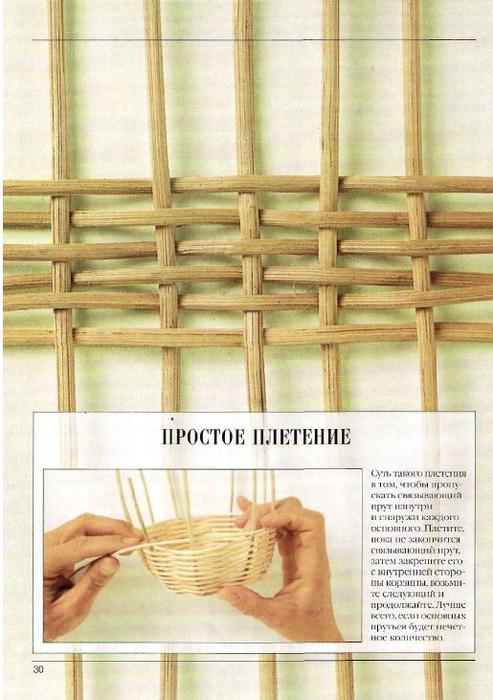 Плетение корзин из ивы техника