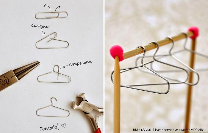 Как сделать для барби своими руками одежда для барби вешалка